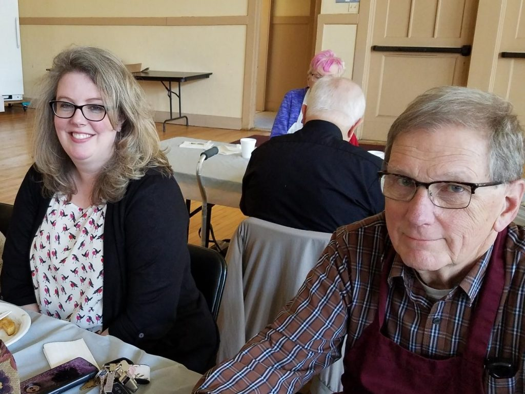 Bridget  and Chuck at 2019 Senior Luncheon