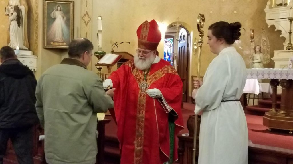 St Nicolas makes a surprise appearance at St Stanislaus